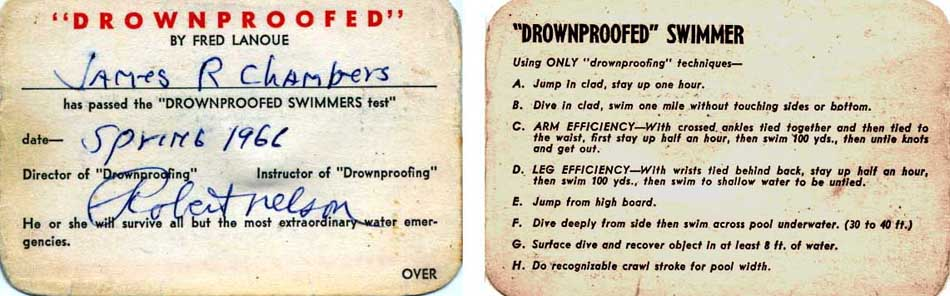 Drownproofed